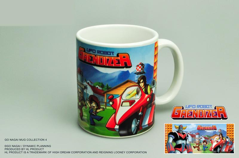 GOLDORAK - Mug 300ml - Grendizer and Duke Fleed Bike