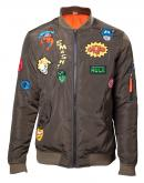 MARVEL - Bomber Jacket With Hero Patches (XL)