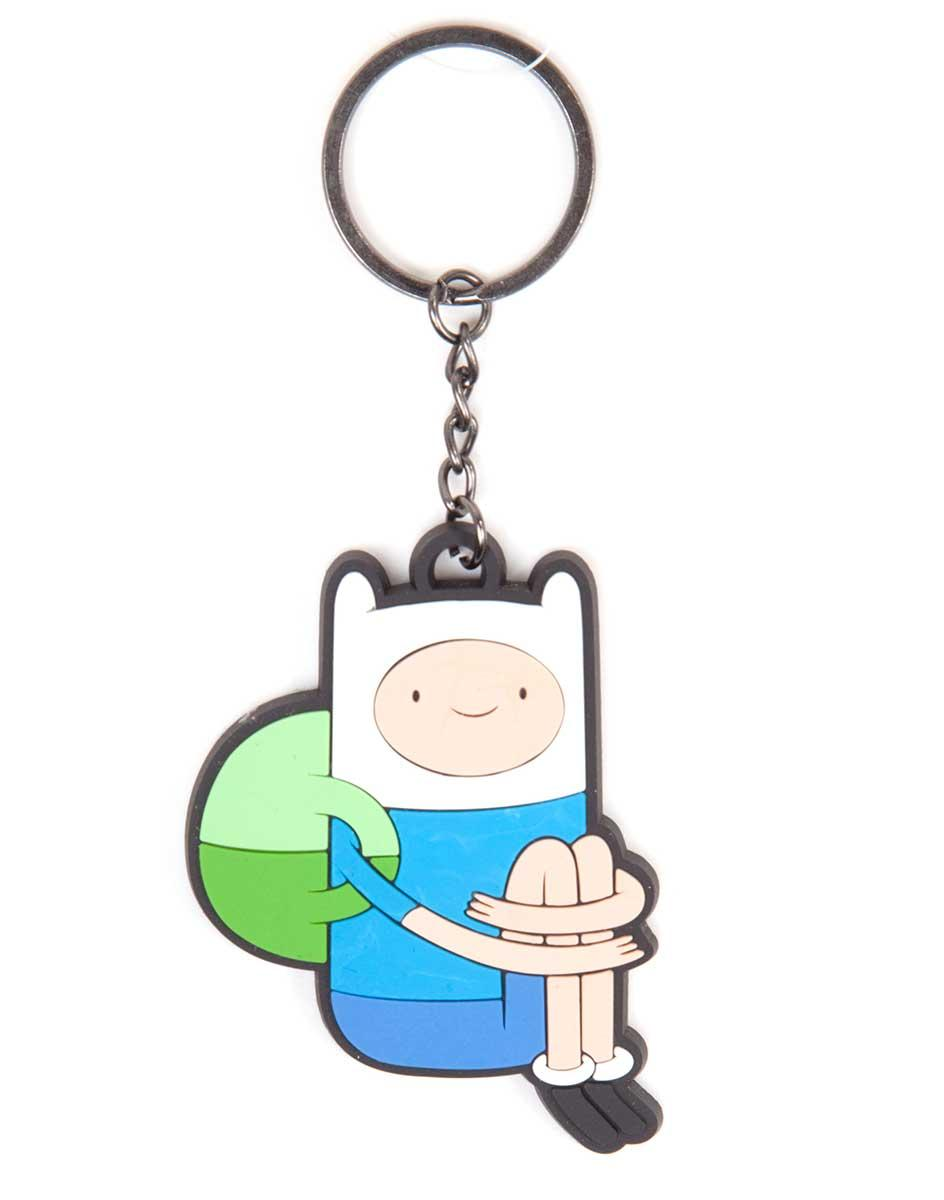 ADVENTURE TIME - Porte-cles Sitting Finn Rubber