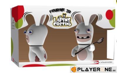 LAPINS CRETINS - Figurine 3D Lapin Chatie BienDouble Pack ( 18 cm )