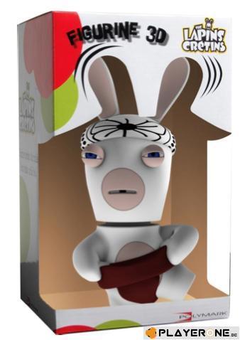LAPINS CRETINS - Figurine 3D Lapin Sumo ( 21 cm )