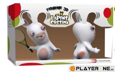 LAPINS CRETINS - Figurine 3D Lapin Tennis Double Pack ( 18 cm )