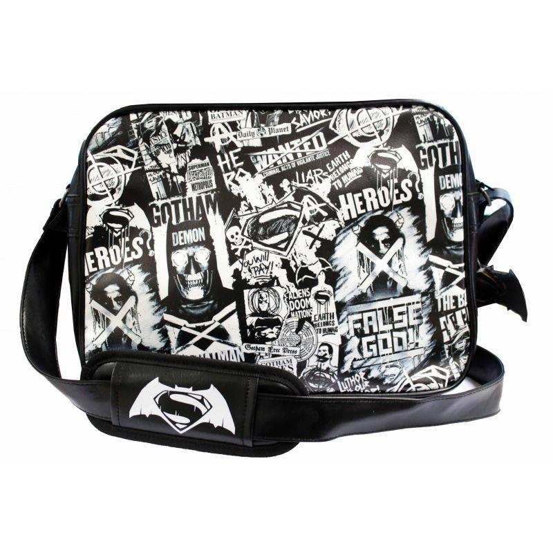 BATMAN vs SUPERMAN - Messenger Bag Black and White