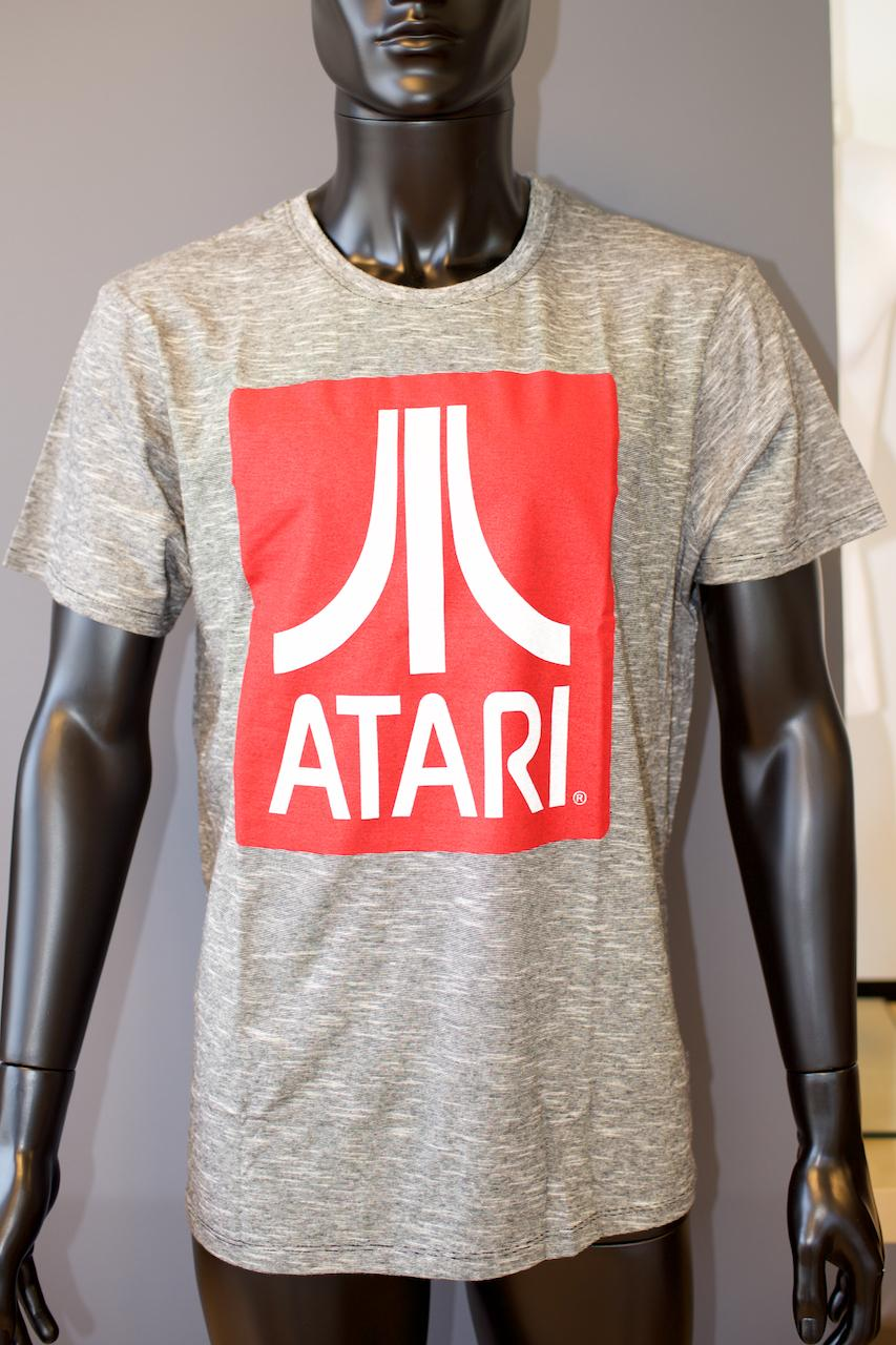 ATARI - T-Shirt Red Logo - Grey (L)