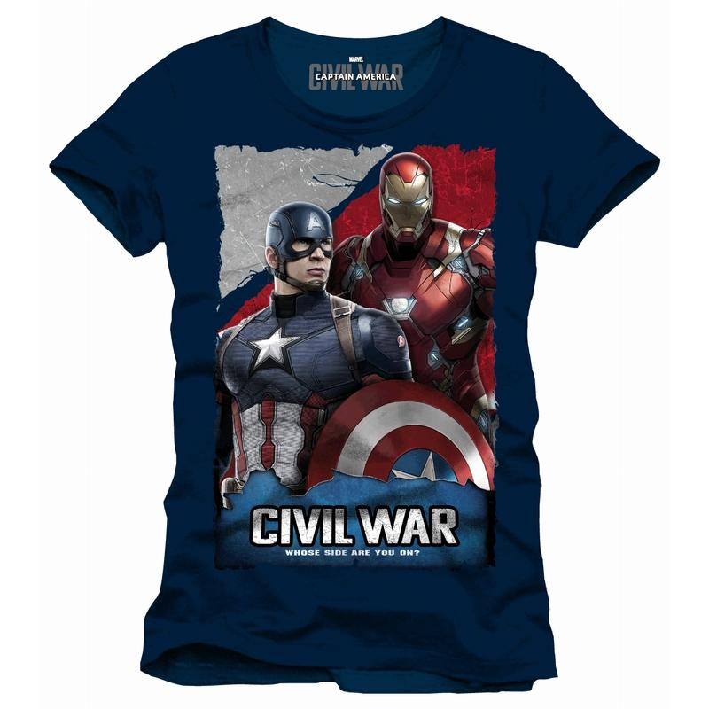 CIVIL WAR - T-Shirt Whose Side Are You On - Navy (L)