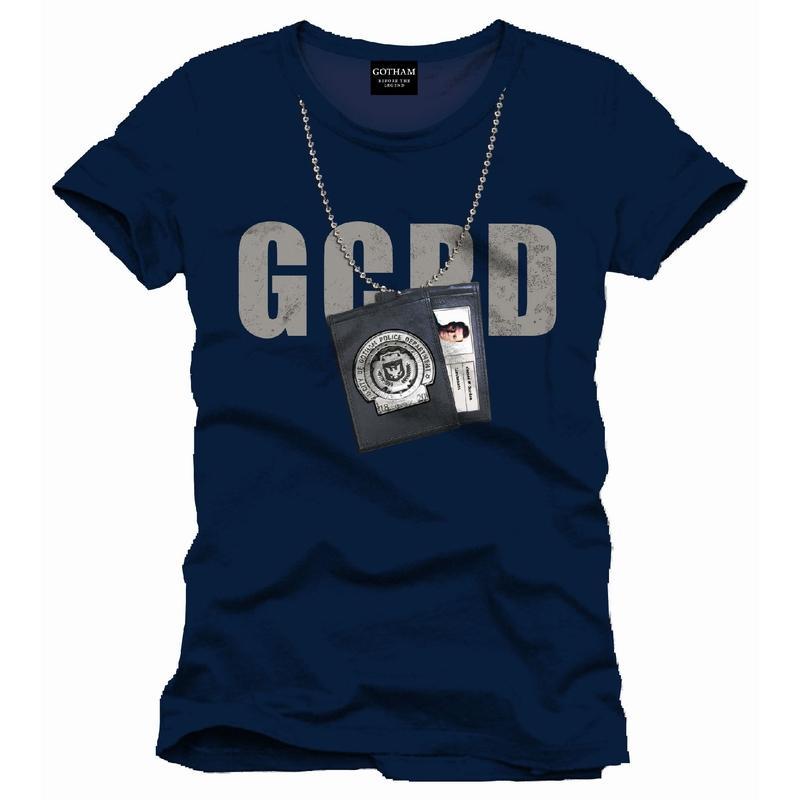 BATMAN - T-Shirt Gotham GCPD Chain Badge (M)