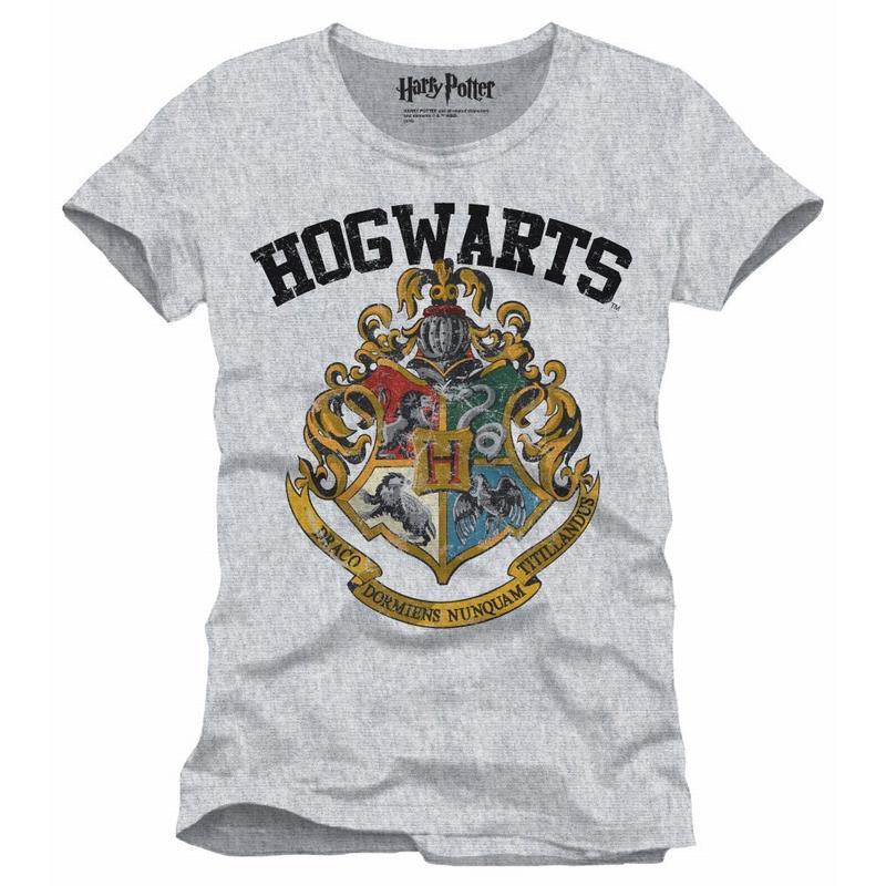 HARRY POTTER - T-Shirt Hogwarts Old School - Grey (S)_1