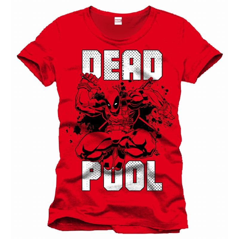 DEADPOOL - MARVEL T-Shirt Jump - Red (L)