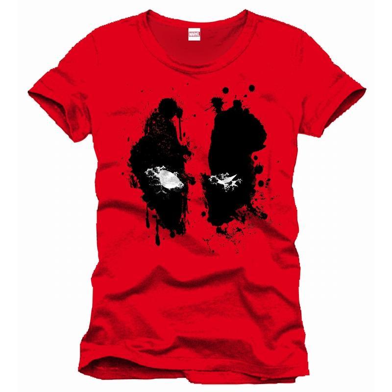DEADPOOL - MARVEL T-Shirt Splash Head Officiel Red (L)