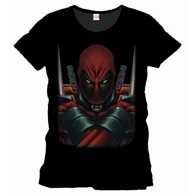 DEADPOOL - MARVEL T-Shirt Warning Officiel Black (S)