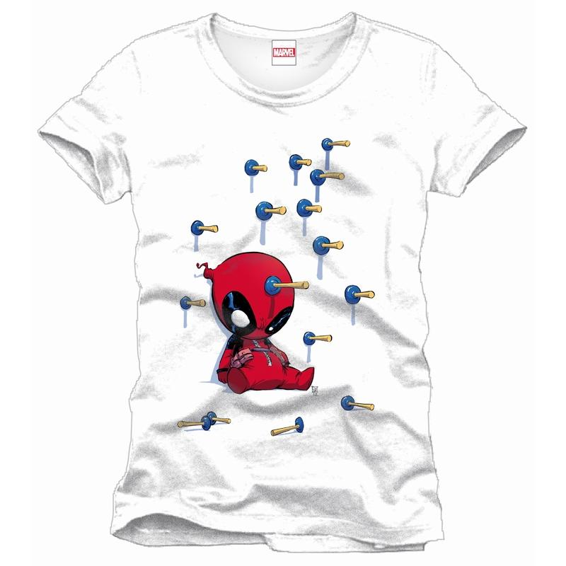DEADPOOL - MARVEL T-Shirt Baby Arrows - White (L)