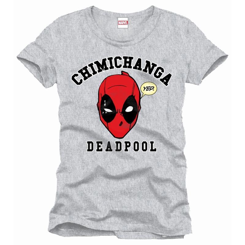 DEADPOOL - MARVEL T-Shirt Chimichanga - Grey (XL)