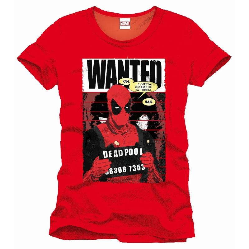 DEADPOOL - MARVEL T-Shirt Wanted - Red (L)