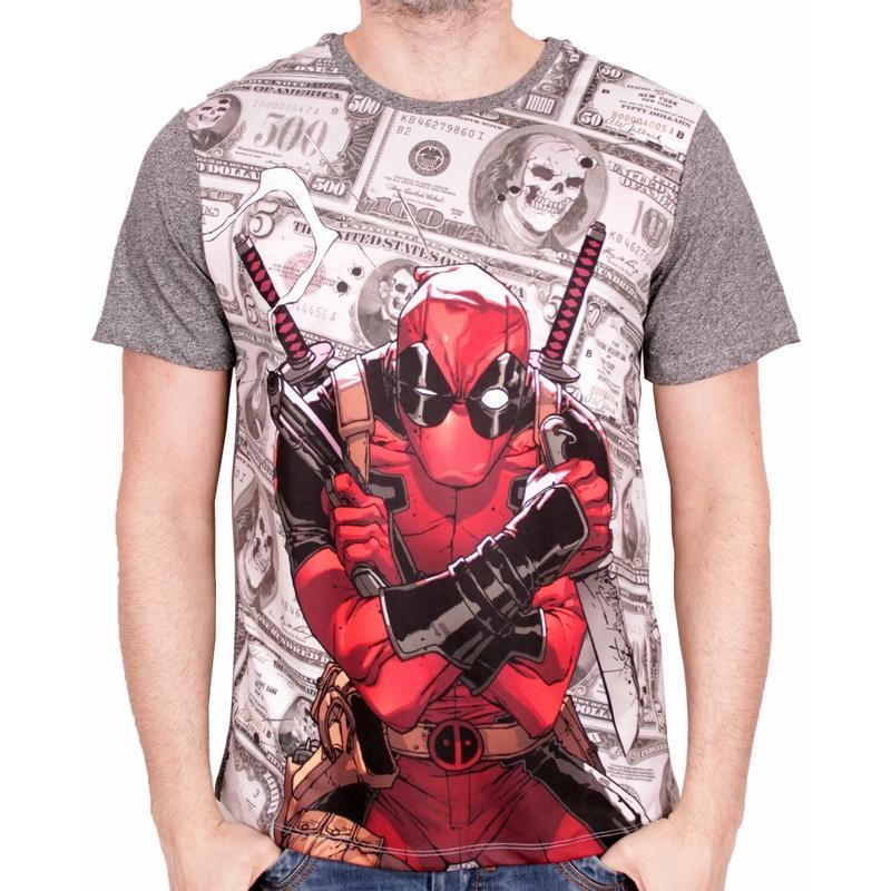 DEADPOOL - MARVEL T-Shirt Dollar - Grey (L)