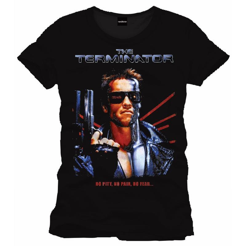 TERMINATOR - T-Shirt No Pity  No Pain No Fear- BLACK (XL)