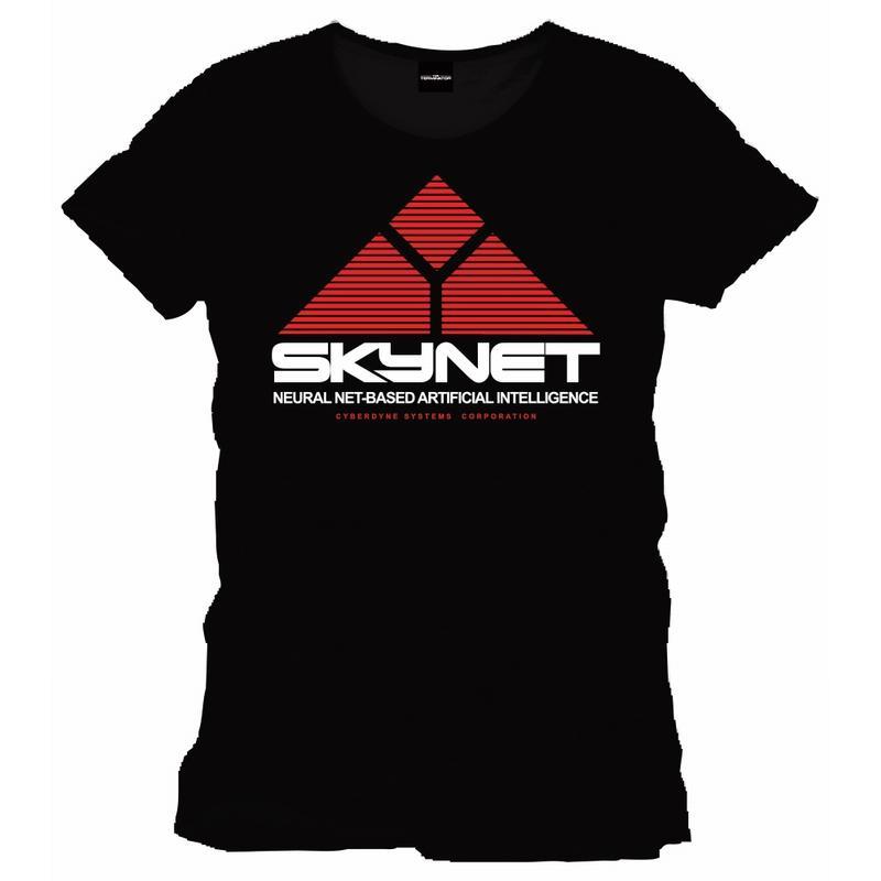 TERMINATOR - T-Shirt Logo SKYNET Officiel - Black  (L)