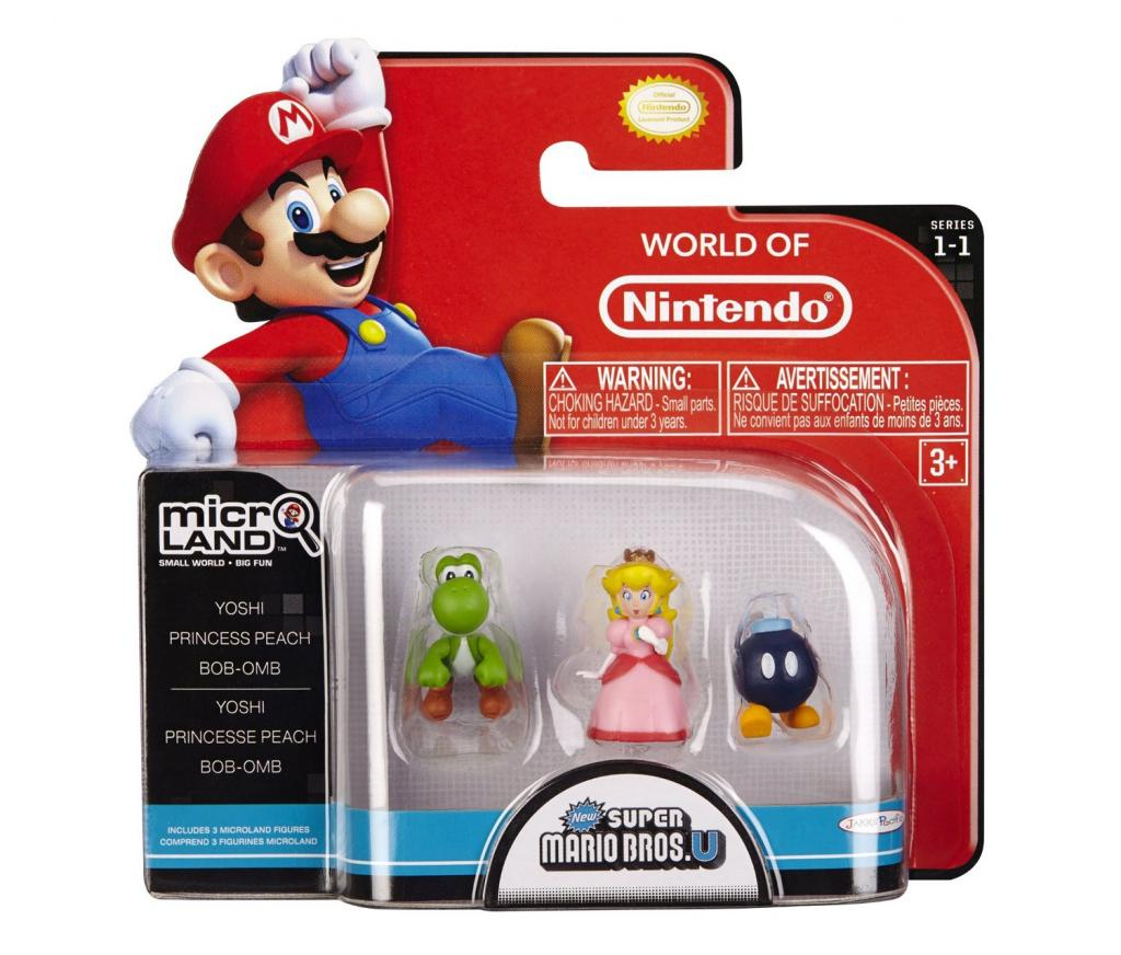 NINTENDO - Micro Figurines - Yoshi / Princess Peach / Bob-om