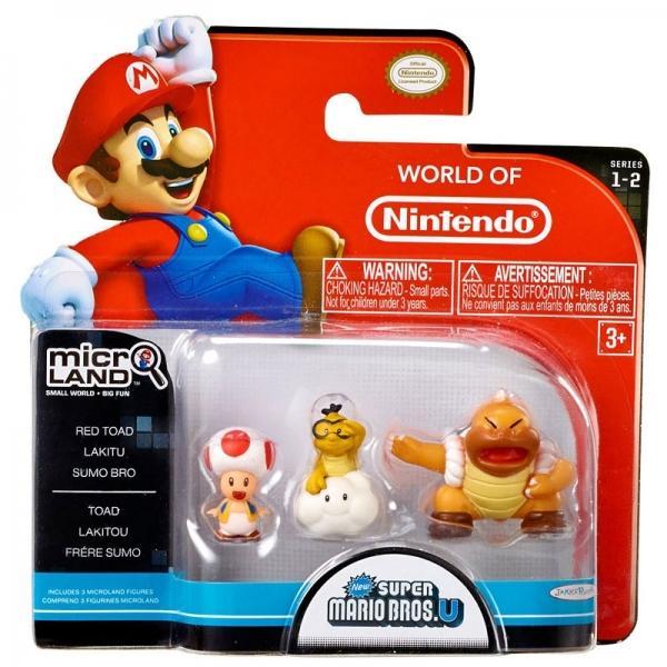 NINTENDO - Micro Figurines - Red Toad / Lakitu / Sumo Bro