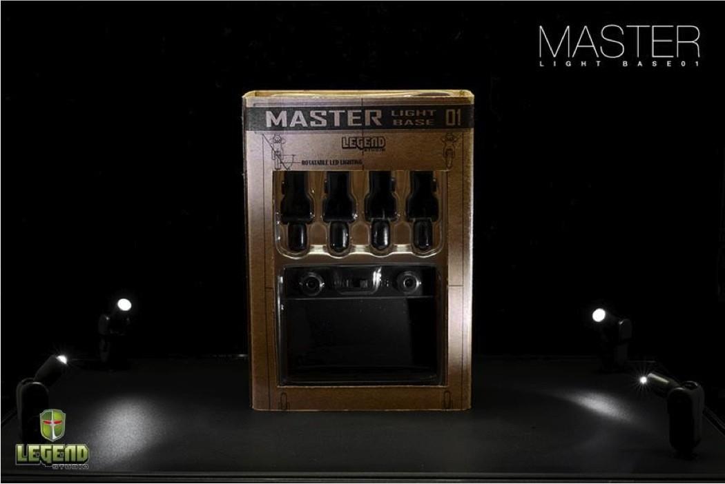 Master Light Base White Lights Black Stage