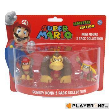 NINTENDO - SUPER MARIO - Pack DONKEY KONG : 3 Mini Figurines