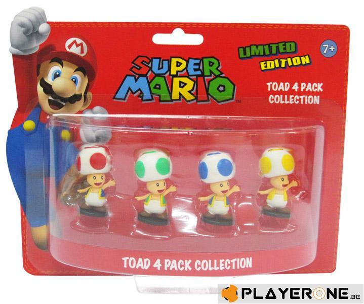 NINTENDO - SUPER MARIO - Pack TOAD : 4 Mini Figurines