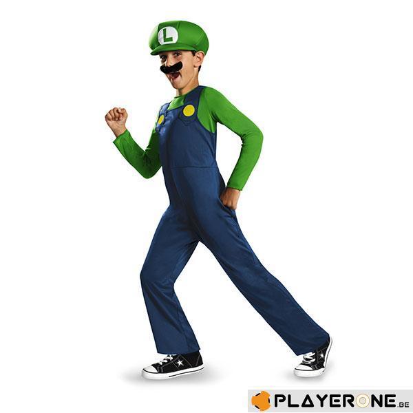 NINTENDO - Costume Enfant Luigi Clasic (10-12 ans)