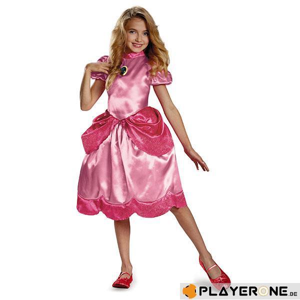 NINTENDO - Costume Enfant Princess Peach Clasic (7-8  ans)