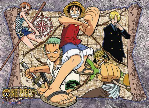 ONE PIECE - Wallscroll 112x84 - Map