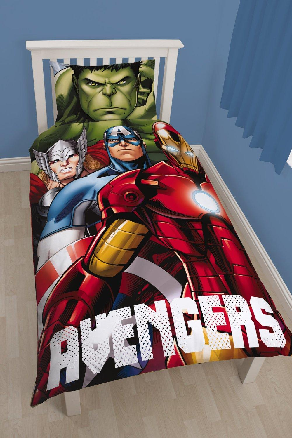 MARVEL AVENGERS - Parure de lit 135X200 - SHIELD 01 (Poly Cotton)