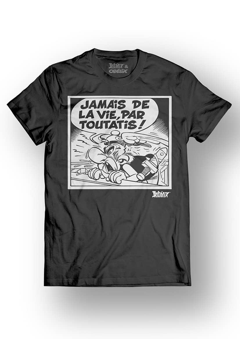 ASTERIX & OBELIX - T-Shirt - Jamais de la Vie - Black (L)