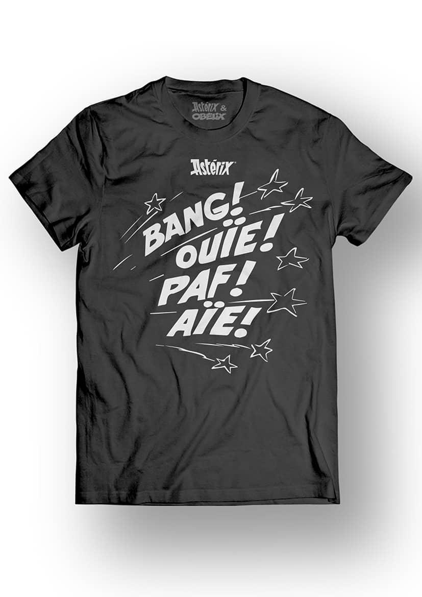 ASTERIX & OBELIX - T-Shirt - Bang! Ouie! Paf! Aie! - Black (L)