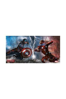 MARVEL CIVIL WAR - Poster en Verre - Duel - 60X30 cm