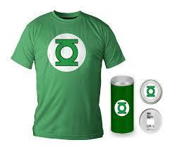 GREEN LANTERN - T-Shirt - Green Logo - DELUXE EDITION (XL)