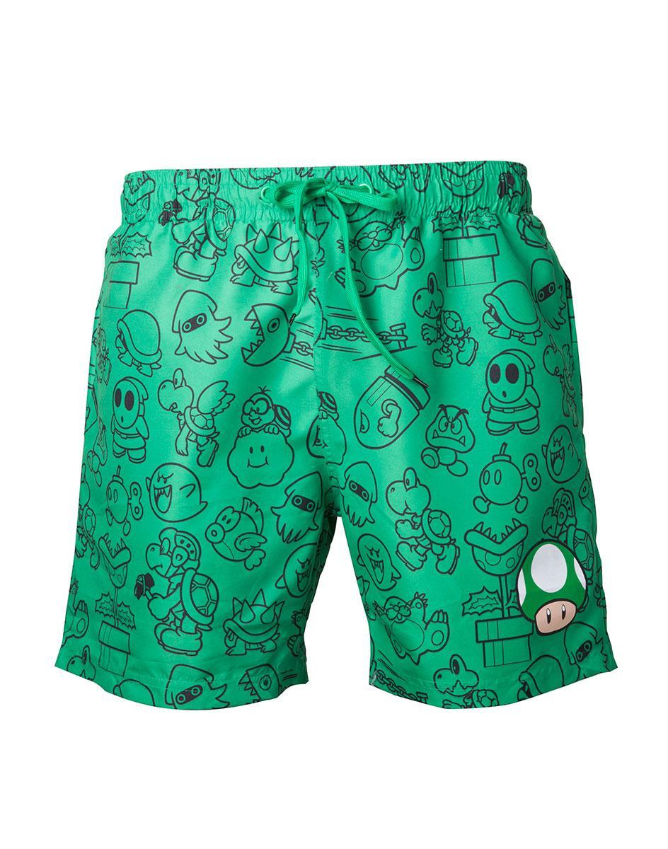 NINTENDO - Green Mushroom Swimshort (XL)