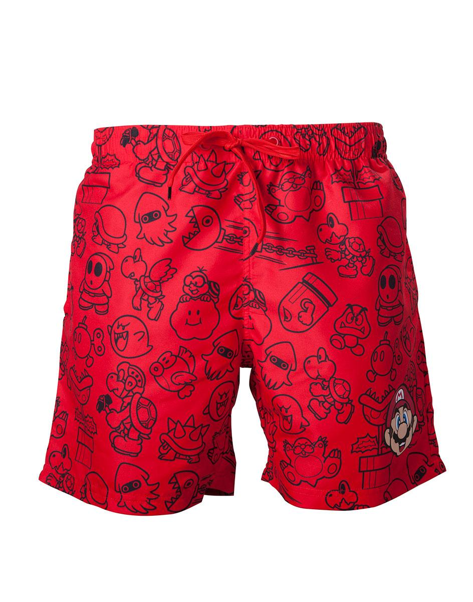 NINTENDO - Red Mario Swimshort (L)