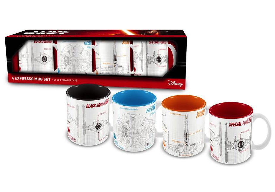 STAR WARS VIII - Set of 4 Espresso Mugs (SW Blueprint)