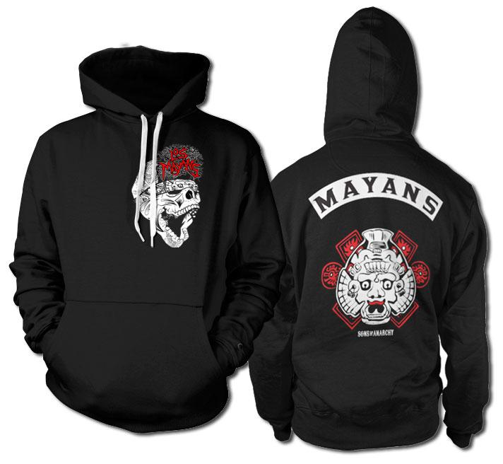 SONS OF ANARCHY - Sweatshirt Los Mayans - Black (L)