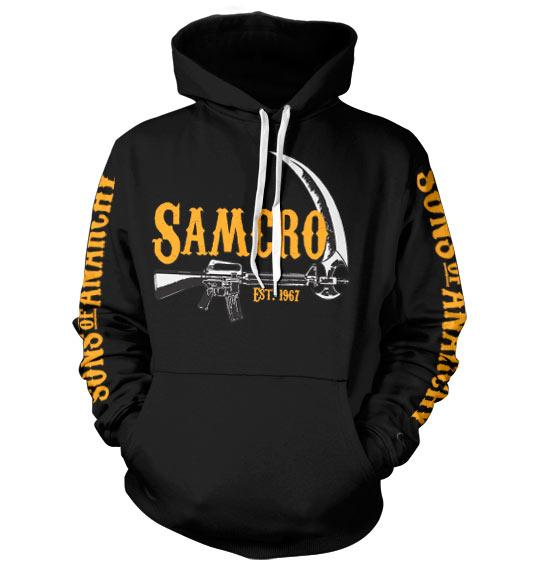 SONS OF ANARCHY - Sweatshirt Samcro EST 1967 - Black (L)