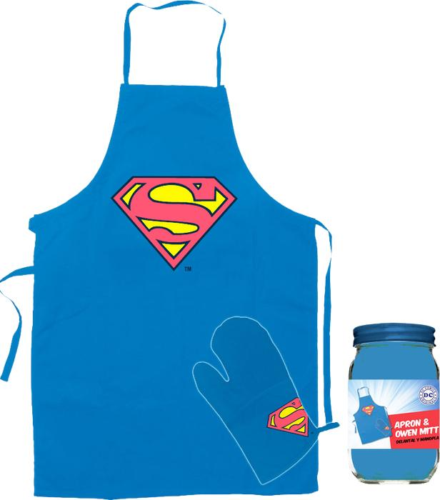 SUPERMAN - Tablier et Gant - Logo Bleu
