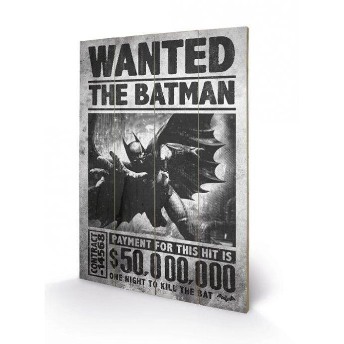 BATMAN - Wanted - Impression sur bois 40x59cm_1
