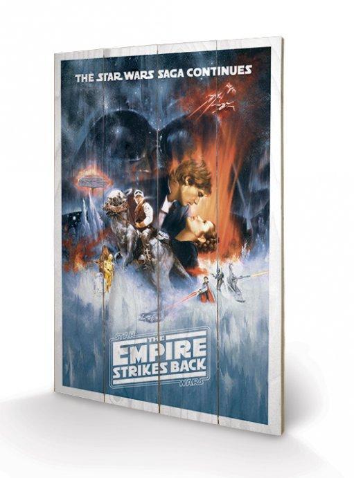 STAR WARS - Impression sur Bois 40X59 - Empire Strike Back
