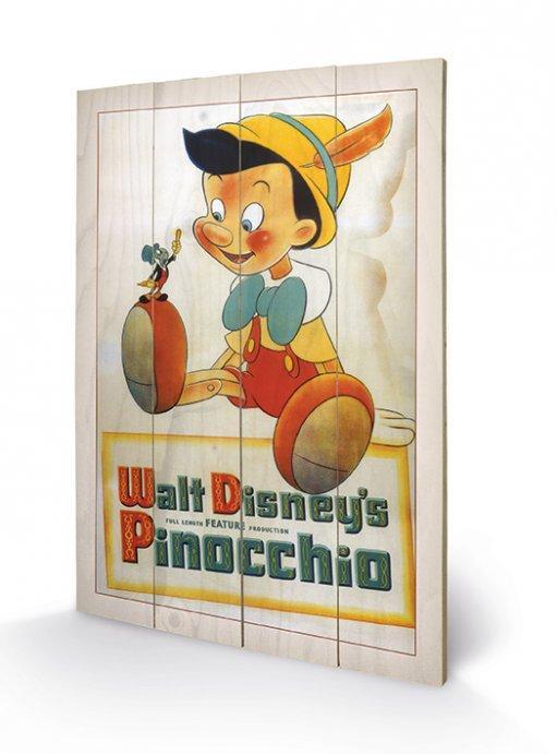 DISNEY - Impression sur Bois 40X59 - Pinocchio Conscience