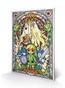 NINTENDO - Zelda Stained Glass - Impression sur bois 40x59cm