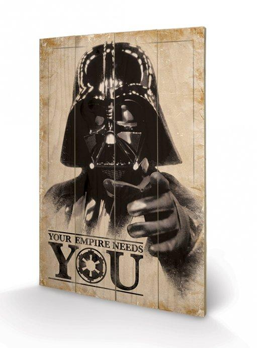 STAR WARS - Impression sur Bois 40X59 - Your Empire Needs You