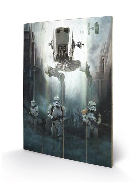 STAR WARS ROGUE ONE - Stormtrooper Patrol - Impression sur bois 40x59c_2