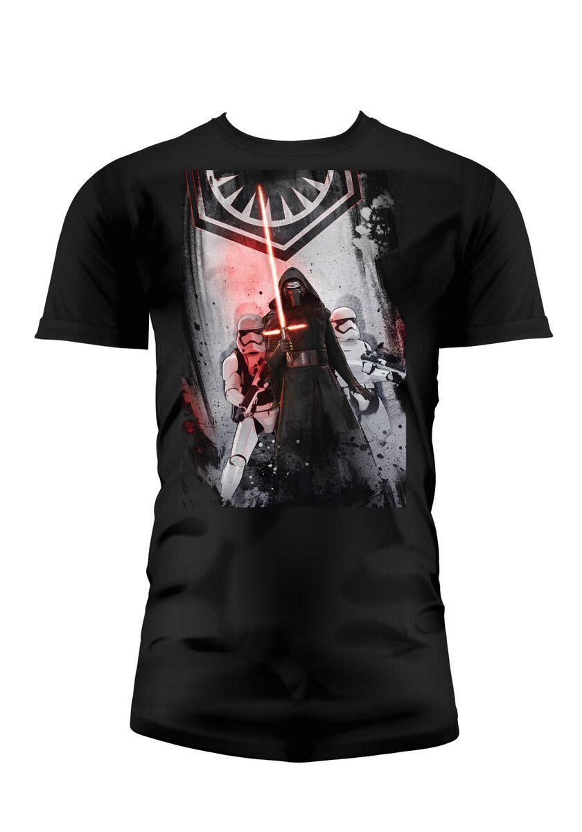 STAR WARS 7 - T-Shirt First Order KIDS - Black (6 Ans)