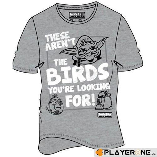 ANGRY BIRDS - T-Shirt Star Wars These Aren't The Birds (L)