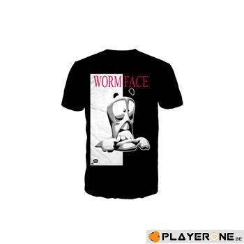 WORMS - T-ShirtBlack Wormface (S)