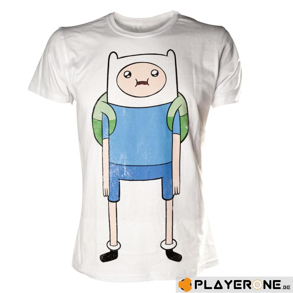 ADVENTURE TIME - T-Shirt Finn Print White (L)