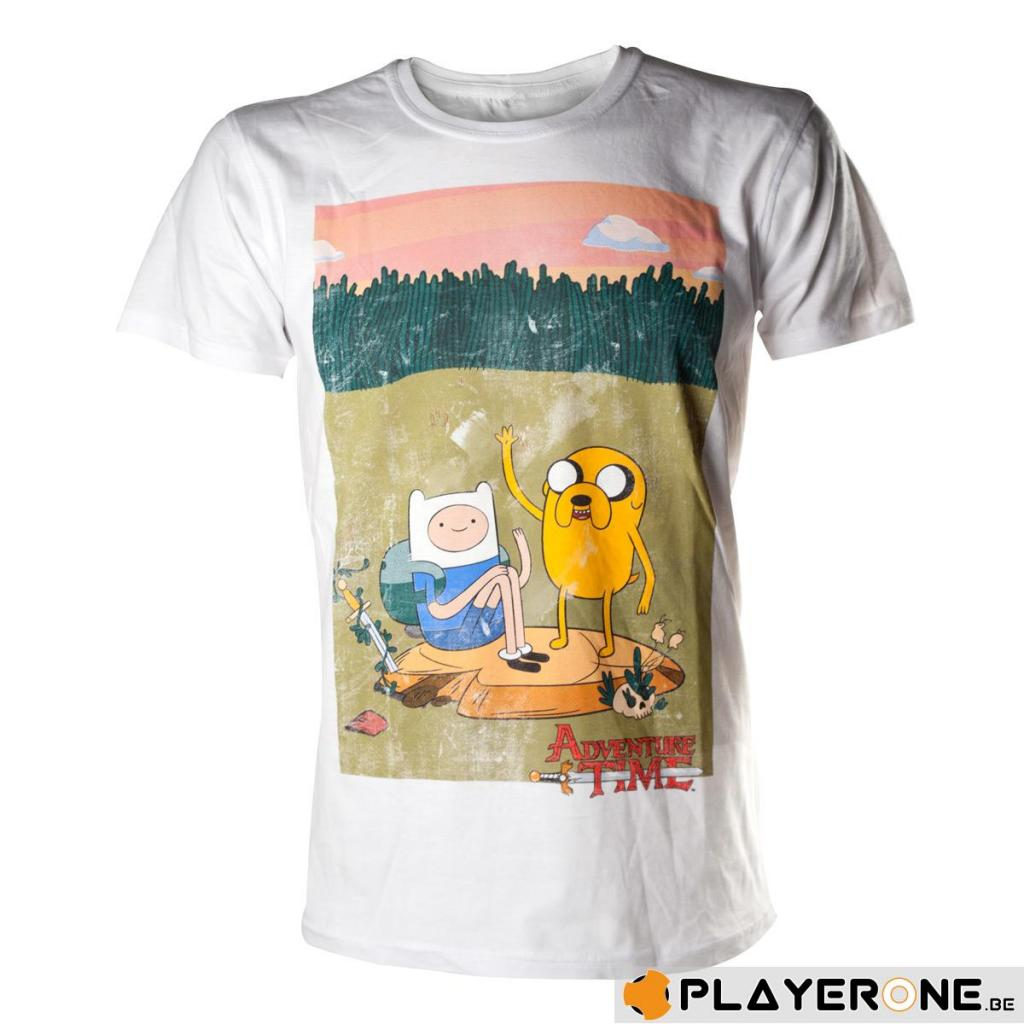 ADVENTURE TIME - T-Shirt Finn and Jake White (XL)